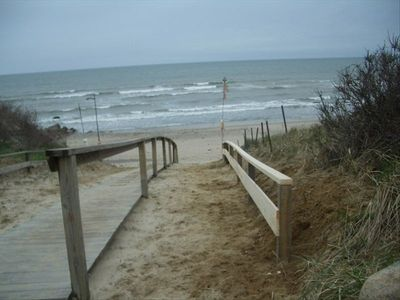Boardwalk to beach