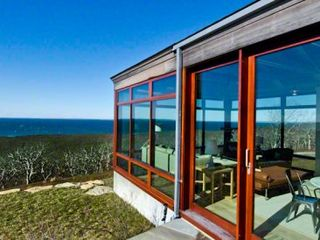 Chilmark house photo - Living Room Wing Has Panoramic Water Views From Aquinnah Light House To The Elizabeth Islands Up To Lambert's Cove Beach