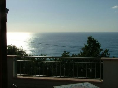 Tropea villa rental - View out to sea