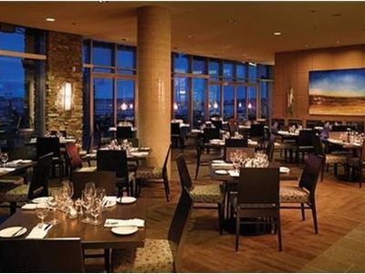 enjoy fine dining at Haro's Restaurant in the lobby of the building
