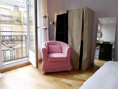 Paris - Montmartre - Abbesses - Studio - Armchair & Window