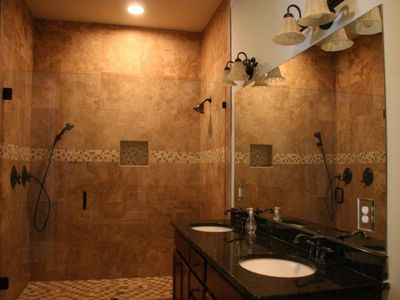Master Suite double shower and sink