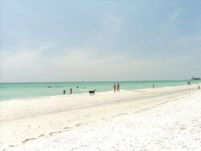Access to white sands of Siesta Key