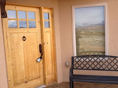 Moab townhome rental - Front Door