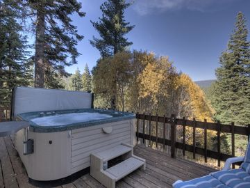 Back Deck with Hot Tub (Faces the Forest)
