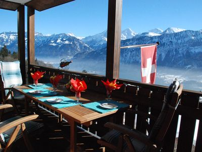 Recovery with fantastic views of the Eiger, Mönch, Jungfrau and Lake Thun