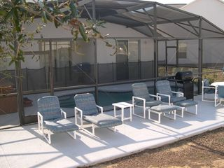 Sunny deck area with total privacy - Sunset Ridge villa vacation rental photo
