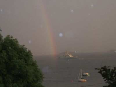 A different scene every night,coast guard keeping a eye on the pot of gold.