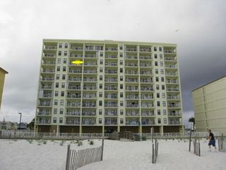 Gulf Shores condo photo - Back of Boardwalk - yellow star burst is our unit