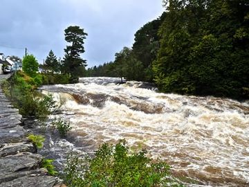 falls of dochart in nearby Killin