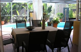 Boca Raton house photo - ...have breakfast on the cozy covered patio, watching squirrels and birds...