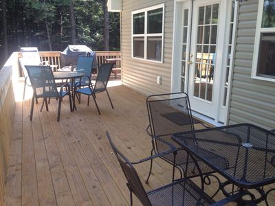 Large deck with summer furniture
