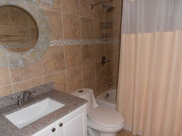 newly remodeled full bathroom