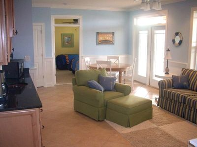 Spacious Second Family Room with Kitchenette located on the First Floor.