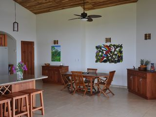 Ojochal villa photo - Indoor dining area, notice the teak ceiling.