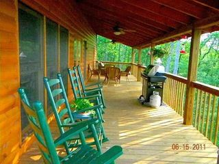 Morganton cabin photo - Deck for viewing mountain ranges.