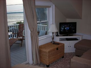 Plum Island condo photo - Living area bay & Newburyport views