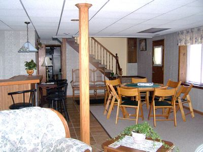 basement area with poker table
