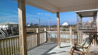 Fort Morgan house photo - View of the bay from the deck of Beach Breeze