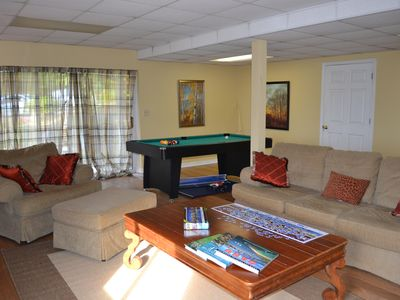 Family room/pool room/game room and TV room