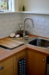 Kitchenette corner sink