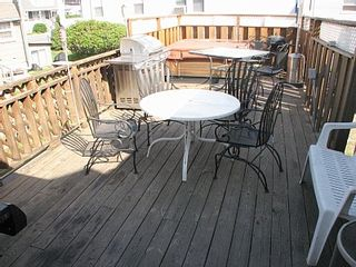 Hampton Beach house photo - Large rear deck is great for grilling and entertaining.