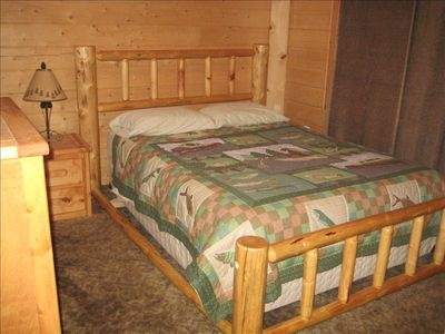 Two private bedrooms with queen beds. Loft with one queen and two twin beds.