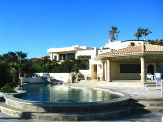 Community Pool Area and Clubhouse with bathrooms. Directly on Ocean. - Cabo San Lucas villa vacation rental photo