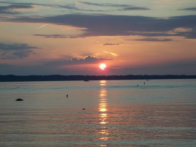 Sunset over Grand Traverse Bay!