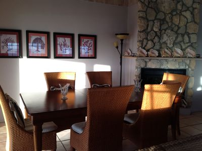 Dining area is set to see the views and will seat 6 to 8 in comfort.