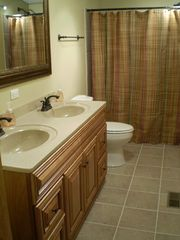 Birchwood cabin photo - Master bathroom with double sinks