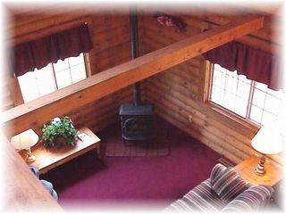 Wisconsin Dells cabin photo - view looking down from loft