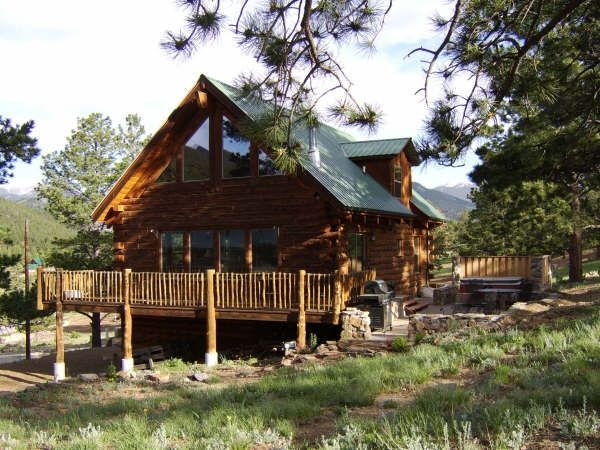 Silver tree house mountain log home near vrbo - Alpine vacation houses ...