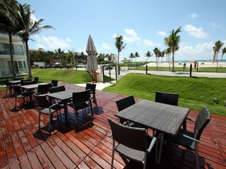 Playa del Carmen condo photo - The Elements Patio Area