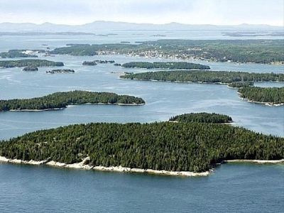 Aerial view of Spruce Island