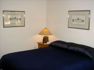 Pinetop cabin photo - Bedroom 2 features a king bed and quality bedding