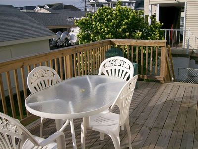 Wildwood house rental - Rear Deck
