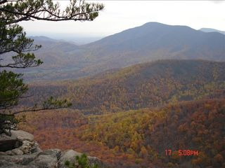 Wintergreen house photo - View from Black Rock Park in November