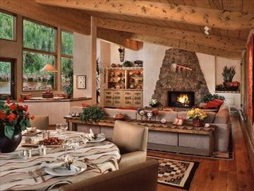 Vail condo rental - Spacious Living Room with Wood Burning Fireplace