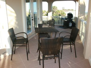 Flagler Beach house photo - Have a seat and enjoy the BBQ.