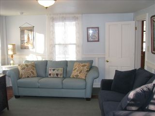Cape May house photo - 2nd 1st floor sitting area (different view) w/flat screen TV & queen sofa bed