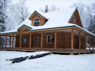 Luxury vacation home corporate rental vrbo for Luxury homes in alaska