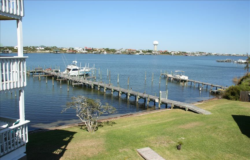 View from our deck for Perdido key fishing