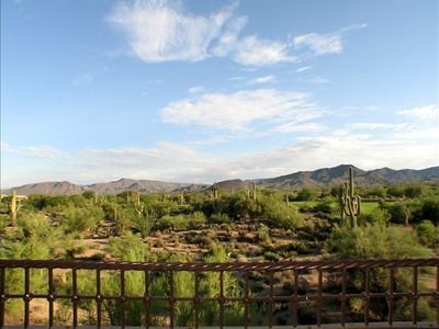 Splendid, unobstructed views of desert and mountains