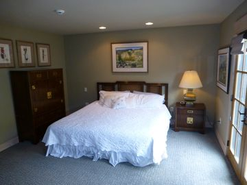 Master Bedroom with King Size Bed and Deck