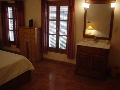 Jalon villa rental - Masterbedroom with views over the garden & pool