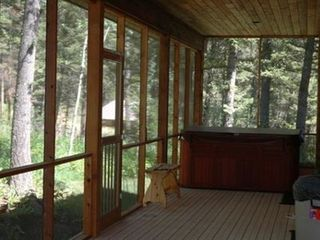 Jackson Hole house photo - 36'x9' SCREENED PORCH WITH SPA