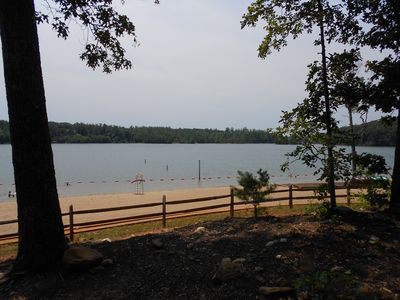 Lake James beach area, great for a family day and chillin'.