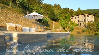 Stunning villa and award winning salt water infinity pool in its own vineyard