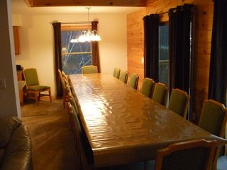 Blakeslee chalet photo - 15 foot dining table